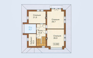 Проект дома 223,9 м.кв. (мансарда)
