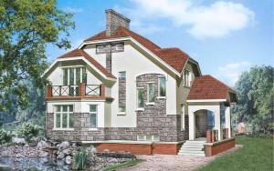 Проект дома 229,0 м.кв. (мансарда)