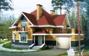 Проект дома 230,9 м.кв. (мансарда, гараж)