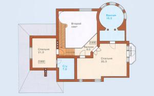Проект дома 235,2 м.кв. (мансарда)
