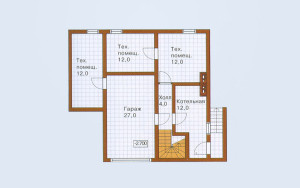 Проект дома 235,8 м.кв. (гараж)