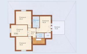 Проект дома 248,4 м.кв. (мансарда, гараж)