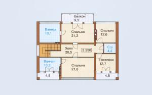 Проект дома 249,3 м.кв. (гараж)