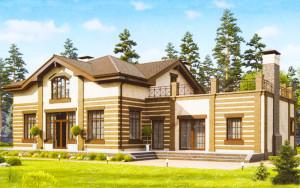 Проект дома 257,2 м.кв. (мансарда)