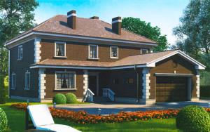 Проект дома 263,4 м.кв. (гараж)