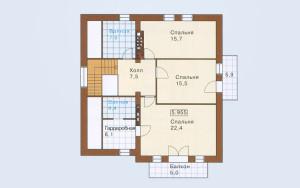 Проект дома 266,2 м.кв. (гараж)