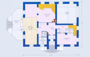 Проект дома 270,5 м.кв. (мансарда, гараж)