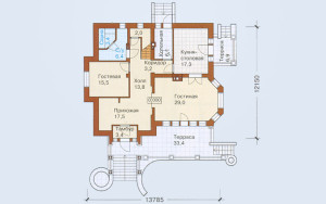 Проект дома 272,4 м.кв. (мансарда)