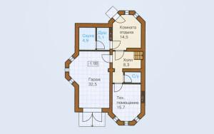 Проект дома 289,5 м.кв. (гараж)