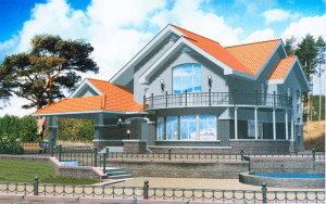 Проект дома 289,6 м.кв. (мансарда)