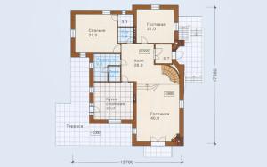 Проект дома 330,8 м.кв.