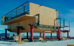 Американская научная станция на Южном полюсе, построенная из SIP-панелей.